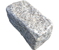 Silver Grey Granite Setts 200×100